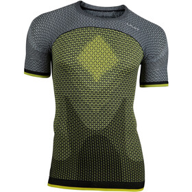 UYN Running Alpha OW Blouse korte mouwen Heren, tonic yellow/sleet grey